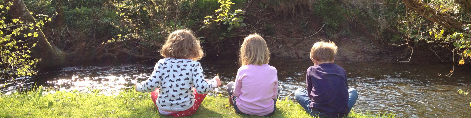 Kids by the river